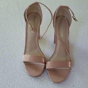 "Glamorous open toe 4.5"" block heels"